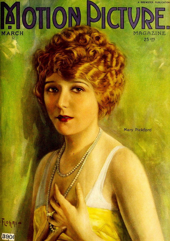 Mary Pickford on the cover of 'Motion Picture', early 1920s