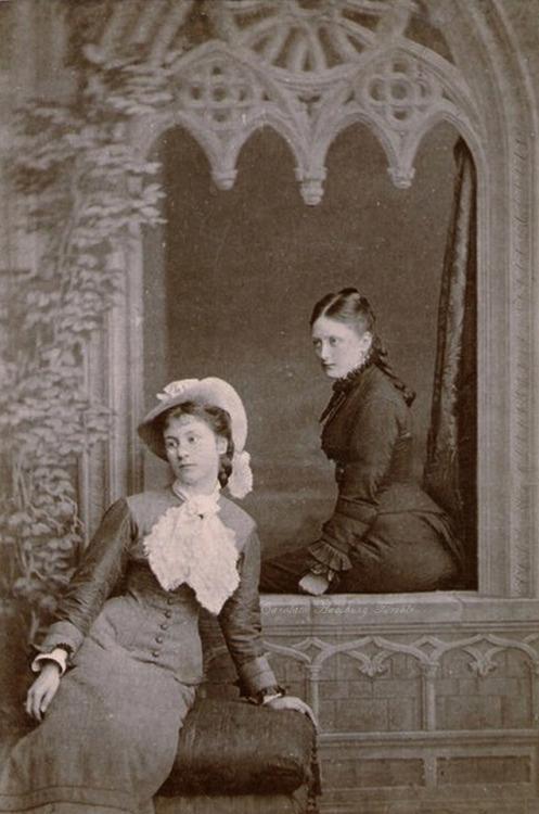 Princess Marie zu Windisch Graetz, later Duchess of Mecklenburg Schwerin (right) and friend, late1870s