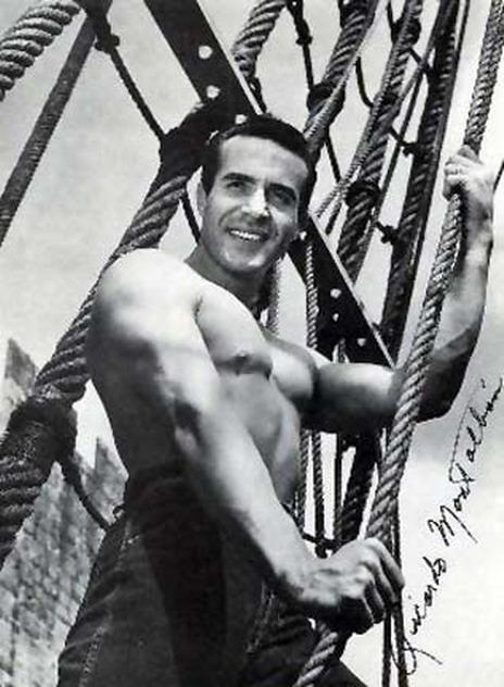 Young Ricardo Montalban,Shirtless