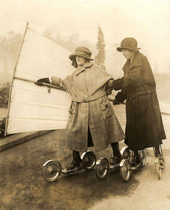 Roller-sailing, Germany (1920s?)