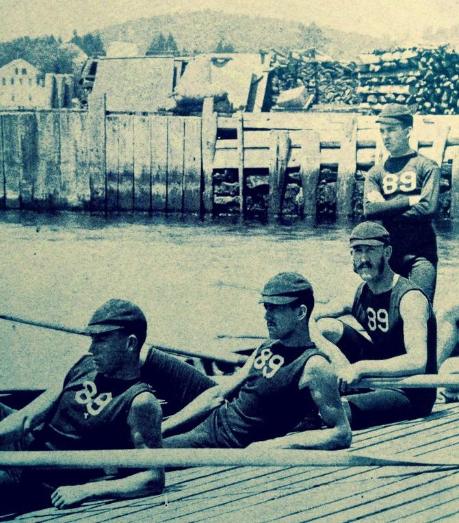 Yale rowers, 1880s