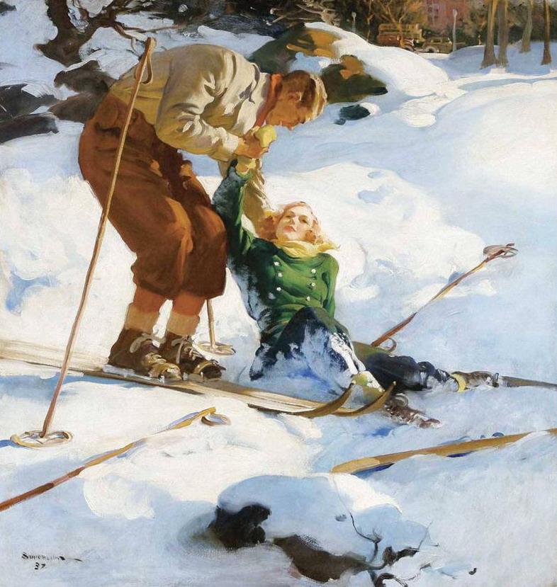 Ski illustration, 1937