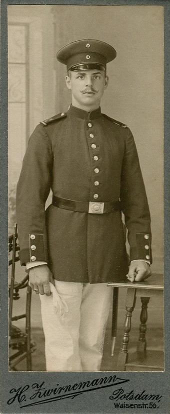 Moustache and uniform,Potsdam