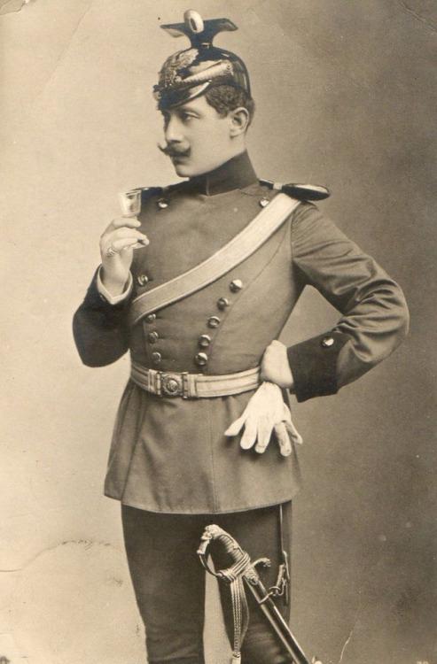 Vintage Mustachioed Soldier