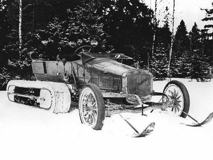 Tsar Nicholas II's kickass snowmobile,1910s