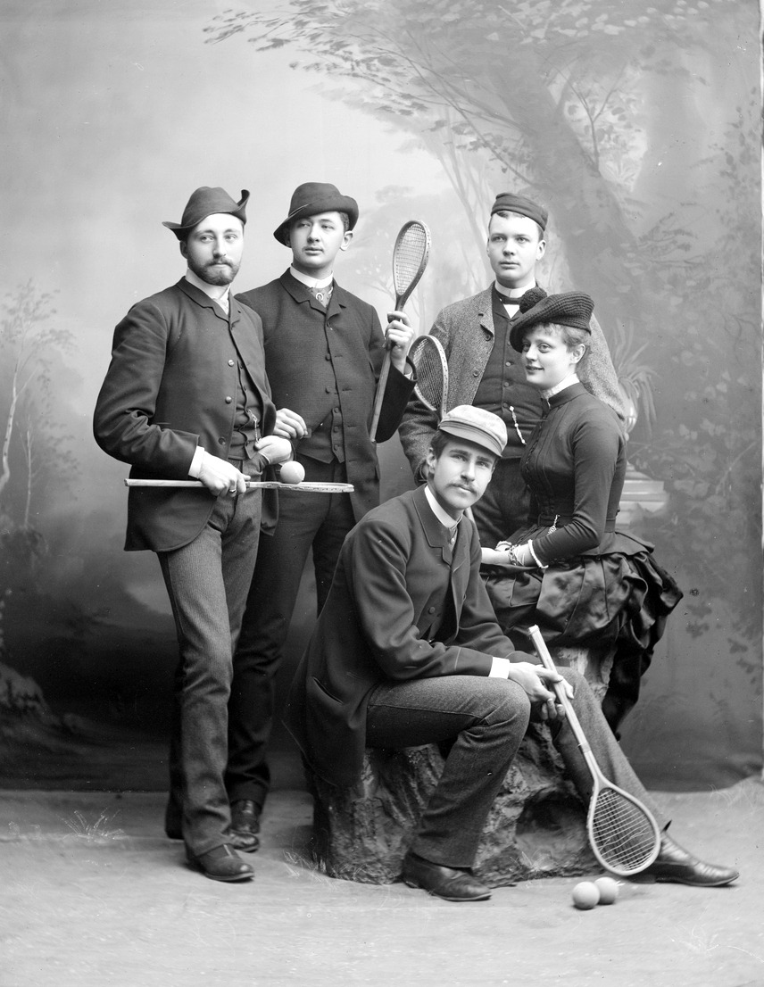 Group of tennis players, Sweden,1886
