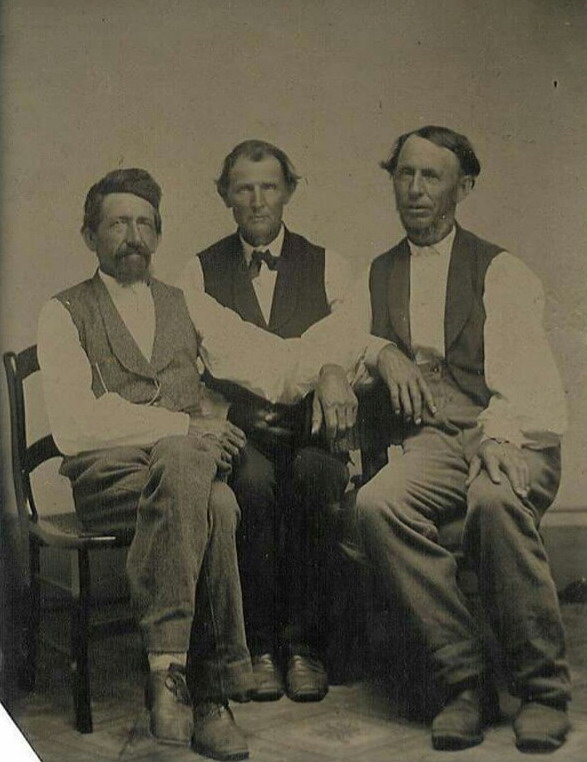 Three Men Together, 1800s