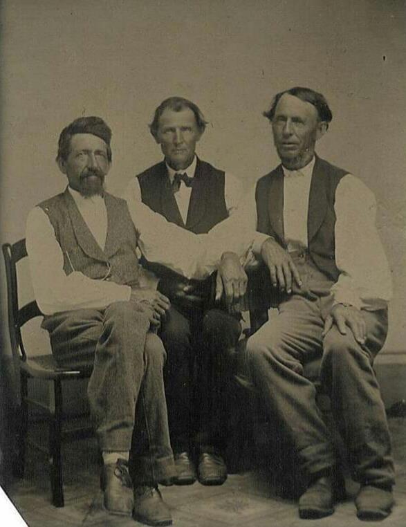 Three Men Together,1800s