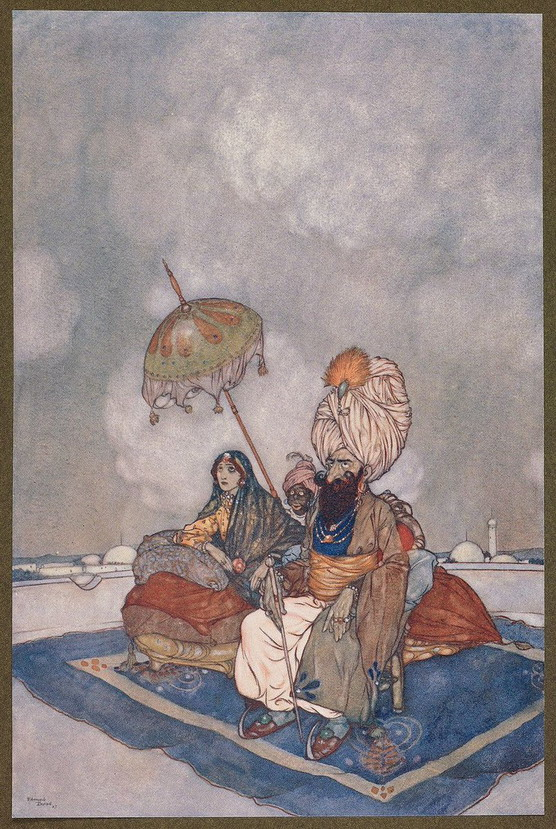 Arabian Nights illustration by Edmund Dulac