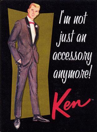 Ken doll standing up forhimself