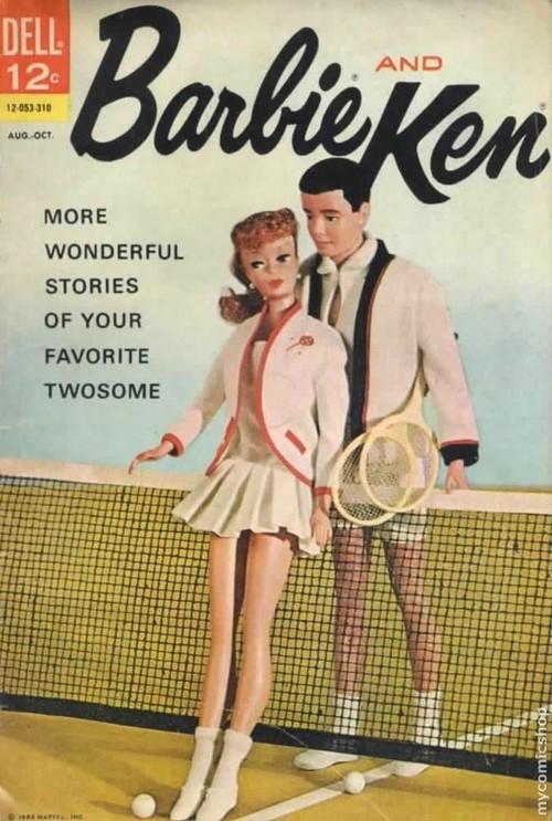 Barbie and Ken, tennis,1950s