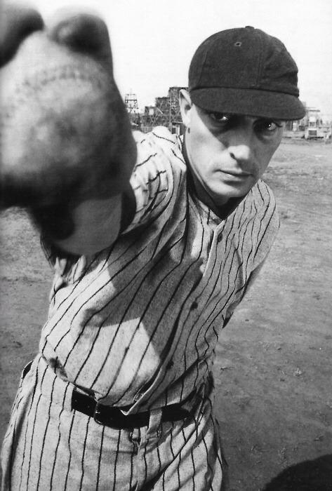 Buster Keaton as a baseballplayer