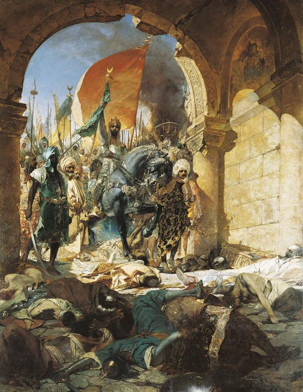 "Jean-Joseph Benjamin-Constant: ""Entrée du Sultan Mehmet II à Constantinople"""