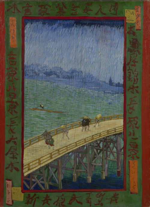 """""""Bridge in the Rain (after Hiroshige)"""" by… Vincent VanGogh"""