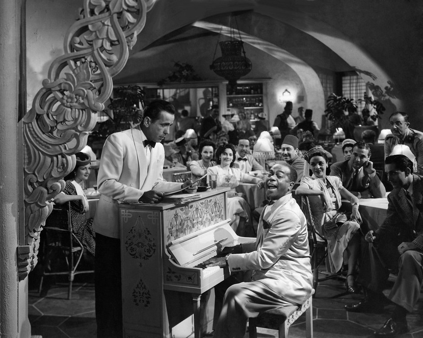 "Dooley Wilson at the Piano (with Humphrey Bogart) in Rick's Cafe in ""Casablanca"", 1942"