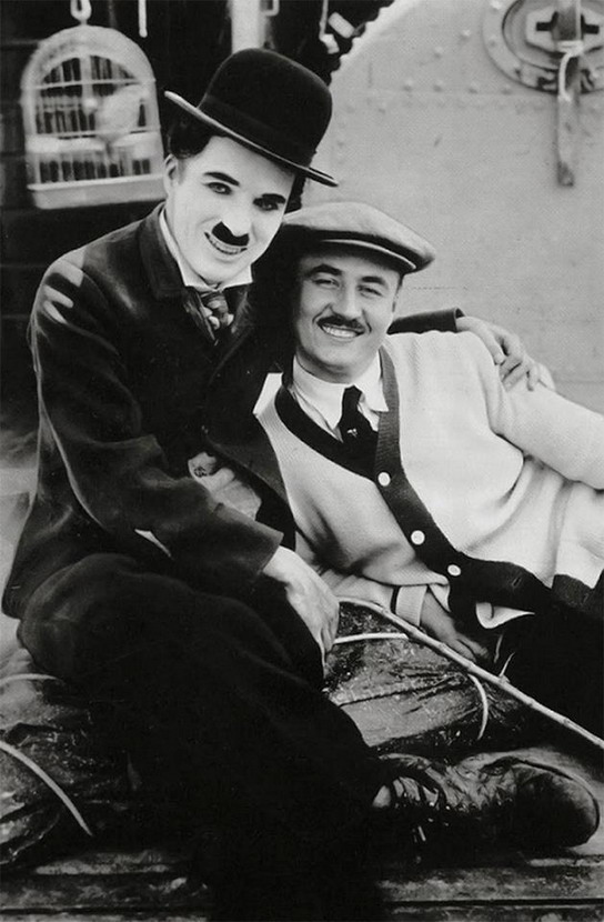 Charlie Chaplin with hisbrother