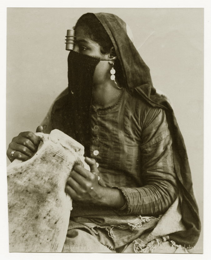 Egyptian woman, water carrier, circa 1900