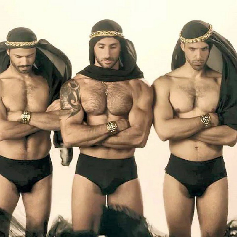 Eliad Cohen (centre model), Israeli hunk, and others