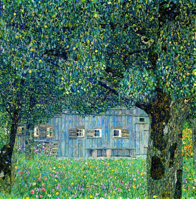 """Farmhouse in Upper Austria"" by GustavKlimt"