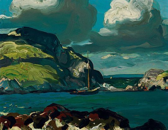 "George Bellows – ""Giant Sky"", 1913"