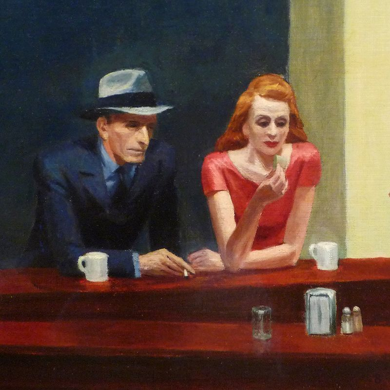 "Detail from Edward Hopper's ""Nighthawks"""
