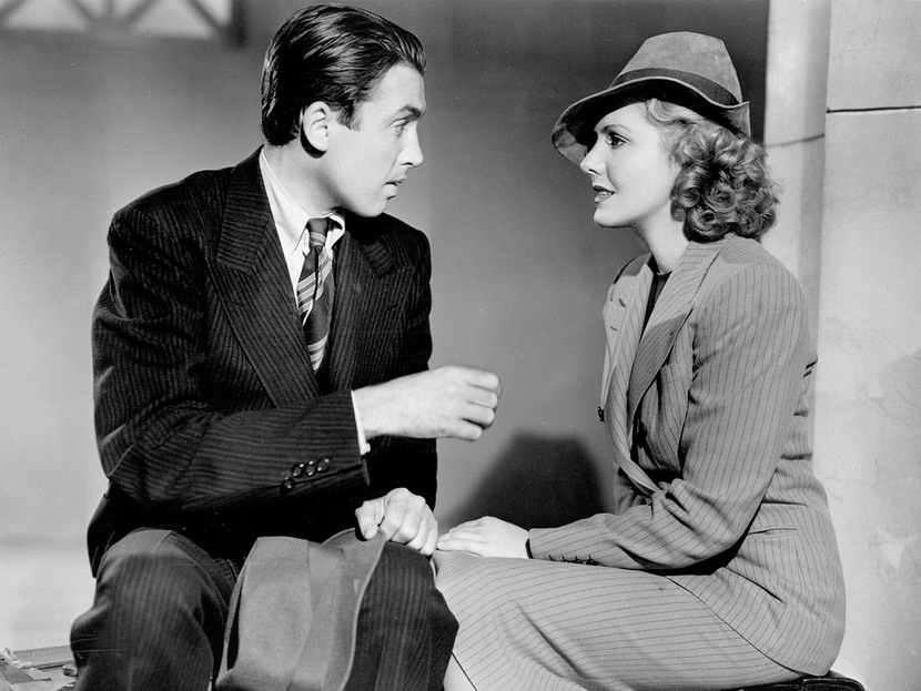 "Jimmy Stewart and Jean Arthur in Frank Capra's ""Mr. Smith Goes to Washington"", 1939"