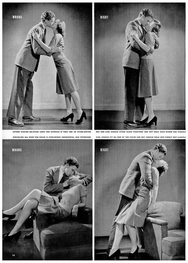 Kissing lessons, 1940s