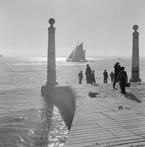 Lisbon and River Tejo by Artur Pastor, 1954