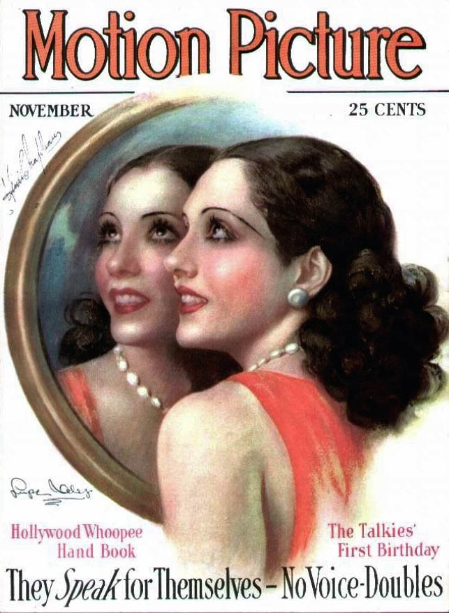 Mexican-American film actress Lupe Vélez on the cover of 'MotionPicture'