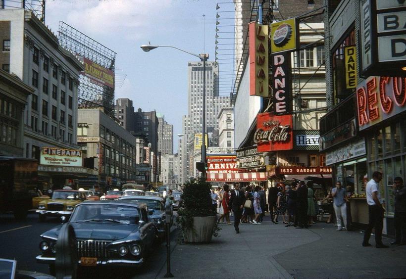 NYC street scene,1960