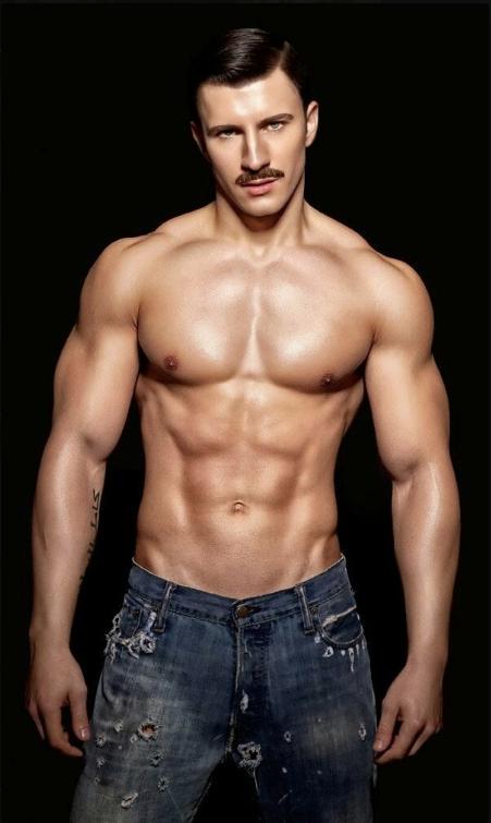Gratuitous Shirtless MustachioedModel