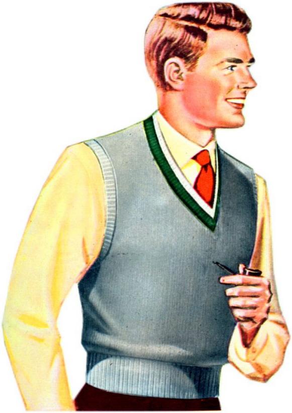 Sweater vest andpipe