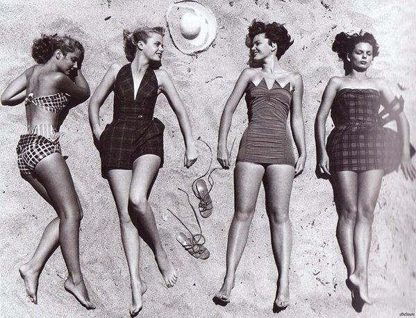 Swimwear models, 1950