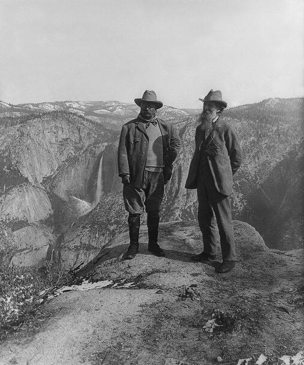 President Teddy Roosevelt and Conservationist John Muir, Yosemite,California