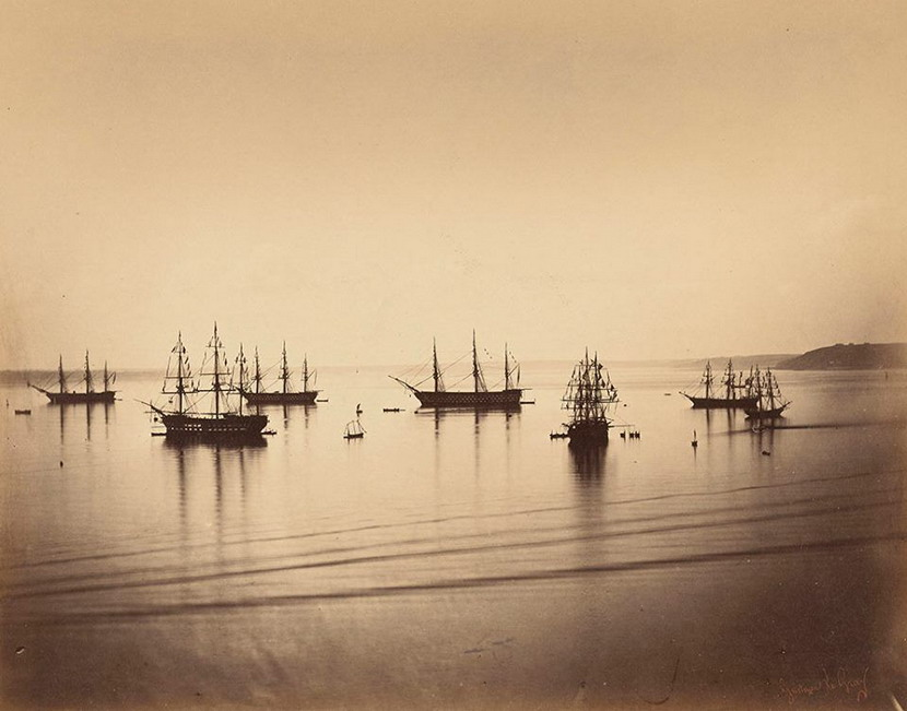 The French Naval Fleet, Cherbourg, 1858