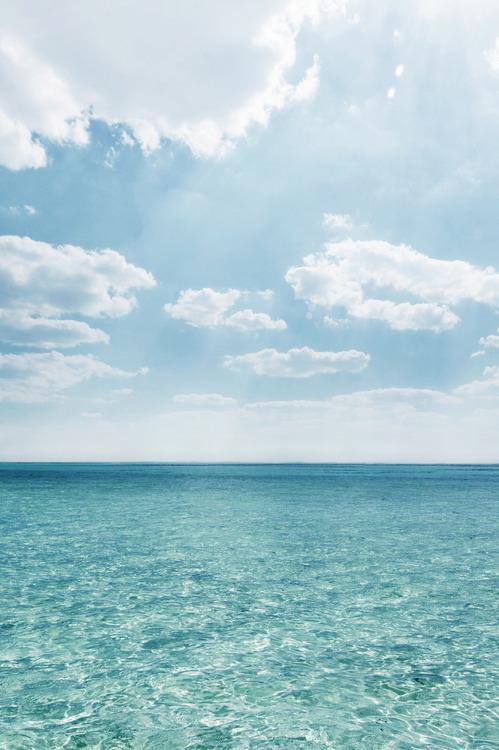Calm, turquoise seas