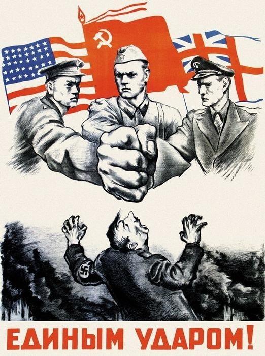 WWII Allies smashingHitler