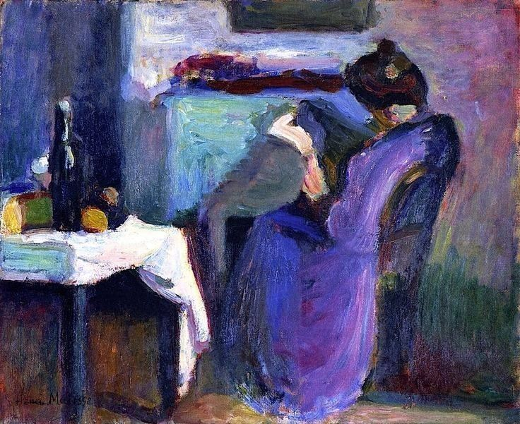 "Henri Matisse ""Reading Woman in Violet Dress"", 1898"
