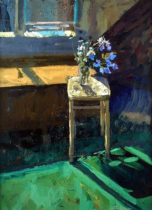 """Flowers on a Stool"" by Jason Bower"