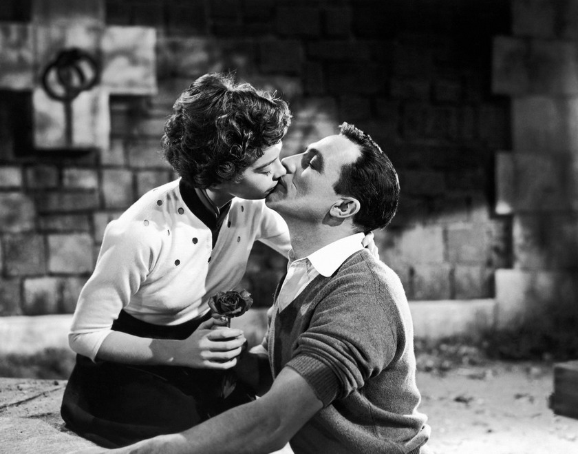 """Leslie Caron and Gene Kelly in """"An American in Paris"""", Ithink"""