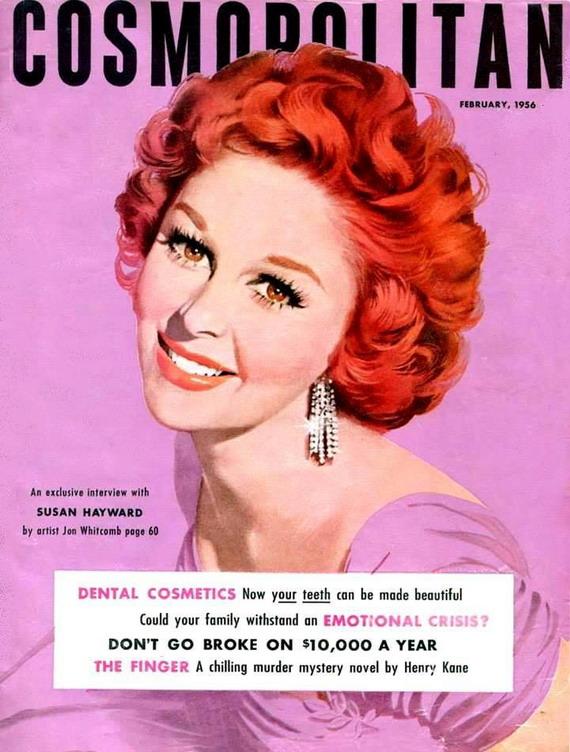Susan Hayward on the cover of Cosmopolitan,1956