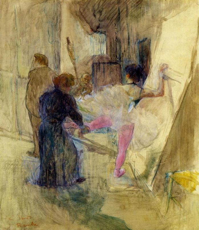 Behind the Scenes ~ Henri de Toulouse-Lautrec