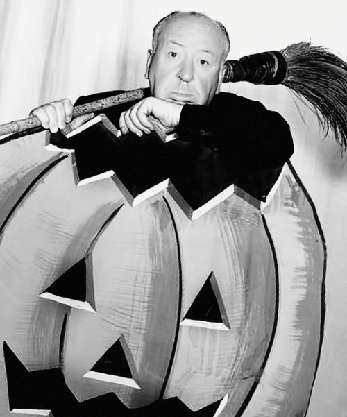 Alfred Hitchcock Halloween photo