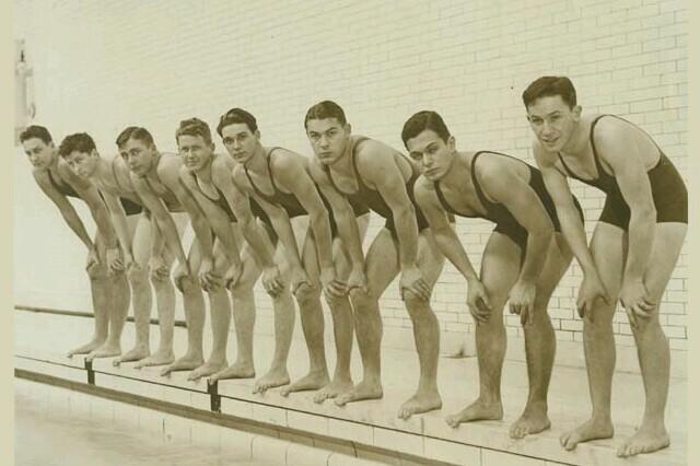 Vintage swim team