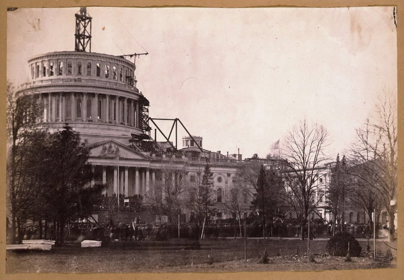 US Capitol dome under construction, Washington DC