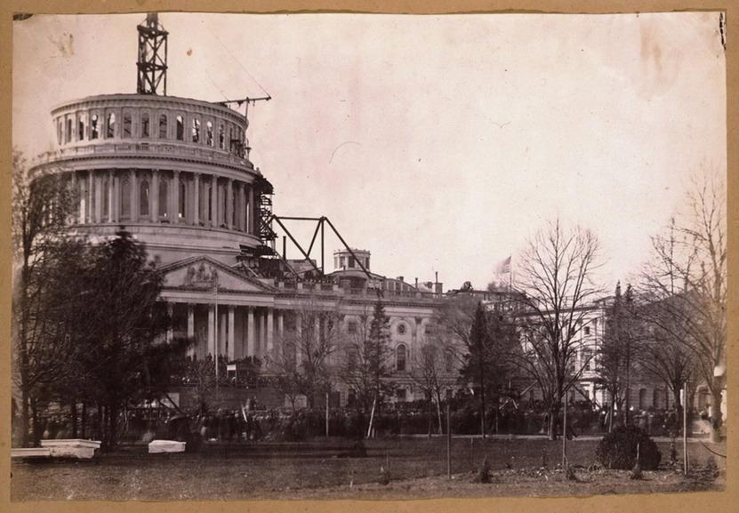 US Capitol dome under construction, WashingtonDC