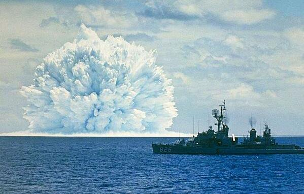 Underwater nuclear test in the Pacific