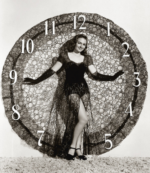 Happy New Year from Donna Reed, circa 1950