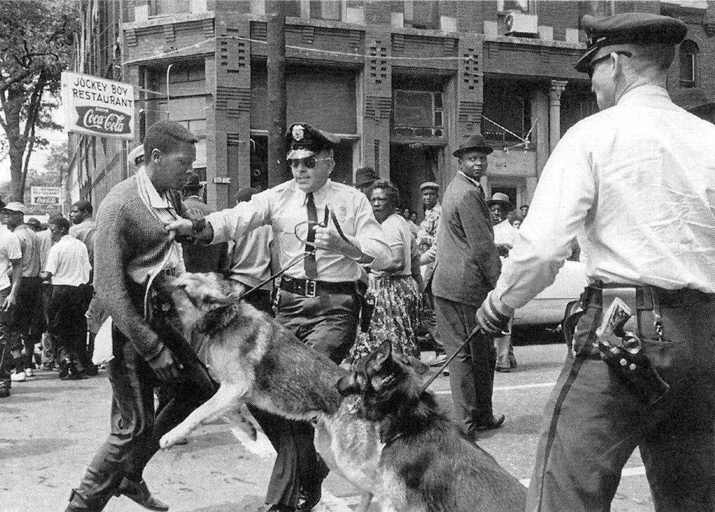 Arrest at a civil rights/desegregation protest,1960s
