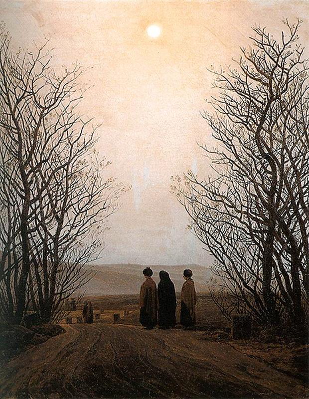 Painting by German artist Caspar David Friedrich,1800s
